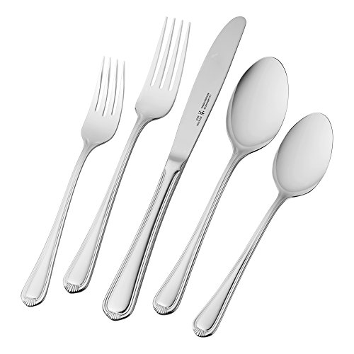 J.A. HENCKELS INTERNATIONAL 22520-365 J.A. HENCKELS Flatware Set, 65 Piece, Silver