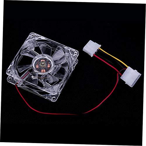 Newgrees Fácil Instalado nuevos Ventiladores de 80 mm 4 LED Azul para la Caja de la PC del Ordenador Ventilador de refrigeración