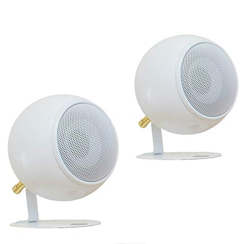 Check Out This Orb Audio: Mod1 Round Stereo & TV Speakers - Two Pack - Compact Stereo Speakers - Tru...