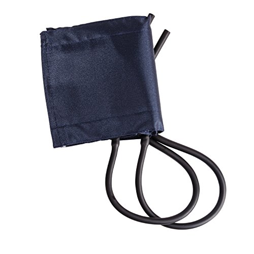 MABIS Sphygmomanometer Blood Pressure Replacement Cuff and Two-Tube Bladder, Adult Size, Blue