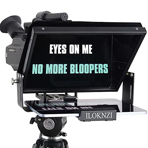 ILOKNZI Große tragbare 12-Zoll-Tablet Teleprompter Geeignet für DSLR und Camcorder, 70/30 optisches Splitterglas und gut für Tablets, Tools zur Videoerstellung