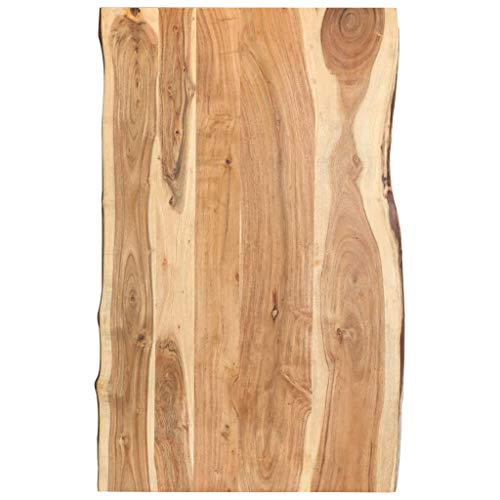 vidaXL Massivholz Tischplatte Baumkante Massivholzplatte Akazie 100x60x3,8 cm