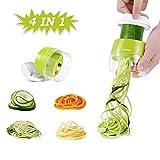 Handheld Spiralizer Vegetable Slicer, Adoric 4 in 1 Zucchini Spaghetti Maker Heavy Duty, Veggie...