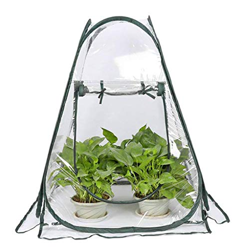 Mini Greenhouse Tent Pop up PVC Grow House Greenhouse Cover Portable Gardening Plant Cover for Garden Outdoor Backyard 70 * 70 * 80cm