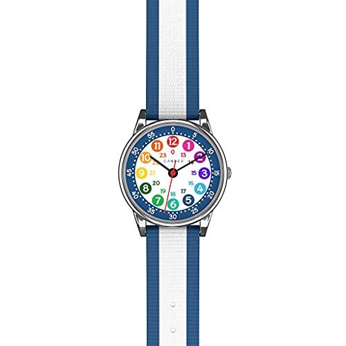 Cander Berlin MNA 1130 B - Reloj de pulsera para niños y niñas, color azul