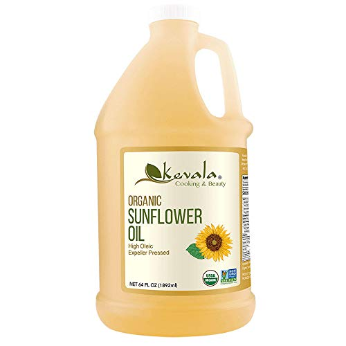 Kevala High Oleic Organic Sunflower Oil, 1/2 Gallon