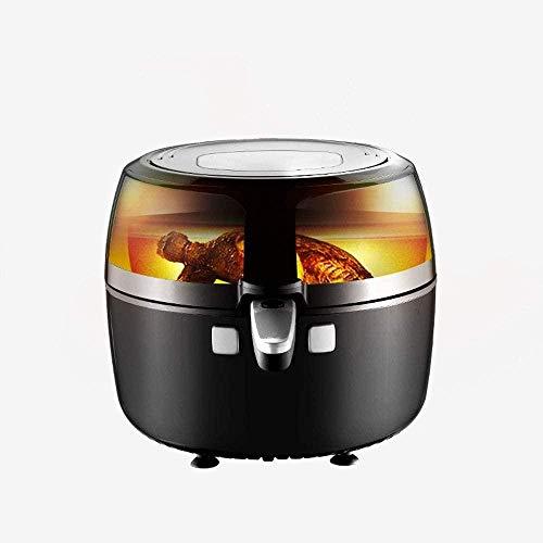 Freidora de aire caliente Horno Cocina sin aceite con pantalla digital LCD y olla fácilmente desmontable Cocina casera