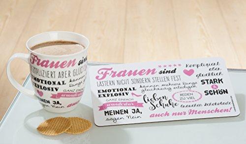 1x Jumbo-Tasse Frauen sind kompliziert aber glücklich 400 ml, Geschenk, Woman, Geschirr, Küche