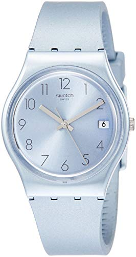 Swatch Damen Analog Quarz Uhr mit Silikon Armband GL401
