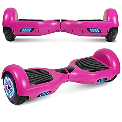 """UNI-SUN 6.5"""" Hoverboard Self Balancing Scooter with LED Lights Flashing Wheels(Purple)"""