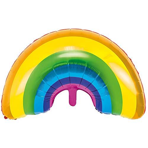 Folienballon Regenbogen in Farbmischung 73 x 45 cm Luftballon Deko