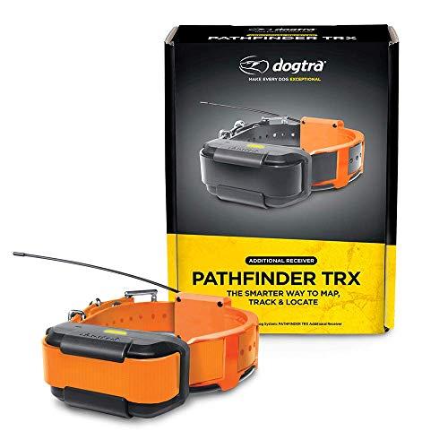 Dogtra Pathfinder TRX Orange Zusatzempfänger 9 Meile 21 Hund Erweiterbar Wasserdicht Smartphone GPS Nur Tracking Halsband mit 2 Sekunden Update Rate, Keine Abonnementgebühr, Kostenlose Satellitenkarte