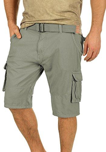 Indicode Costa Pantalón Cargo Bermudas Pantalones Cortos para Hombres con Cinturón de 100% Algodón Regular-Fit