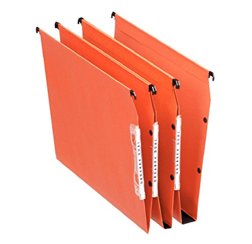 Esselte Group 21629 - Carpetas colgantes (25 unidades, lomo 30 mm para armario), color naranja