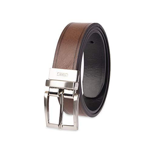 Chaps Boy's 1 Reversible Dress Casual Belt, Tan/black, Small (22-24)