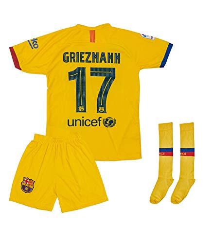 ATB Barcelona 2019/2020#7 Griezmann Auswärts Kinder Fußball Trikot und Shorts mit Socken Kinder und Jugend Größe