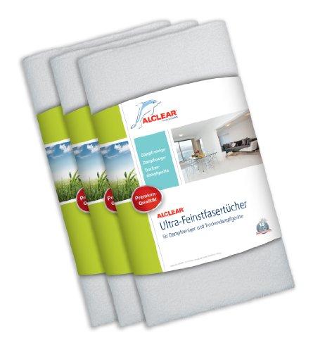 ALCLEAR 955040 Premium Ultra-Microfasertücher für Dampfreiniger von Kärcher, Vapor-Star 50x40 cm, weiß, Bodentuch Tuchset, 3er Set für Haushalt, Fliesen, Laminat, Polster