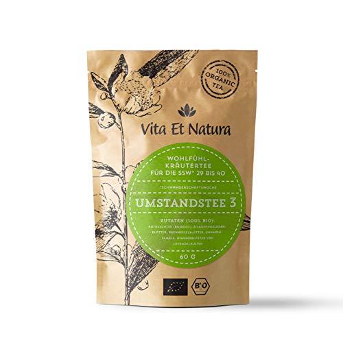 Vita Et Natura BIO Umstandstee 3 - Schwangerschafts-Tee für die 39. Woche bis zur Geburt - 100 % biologischer Wohlfühl-Tee - 60 g loser Kräuter-Tee