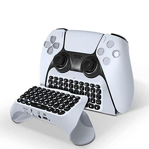 PS5キーボード、PS5用コントローラキーボード、ワイヤレスBluetoothミニ充電式Chatpad、PS5コントローラのキーボードゲームでのプレイとチャットするためのキーボード