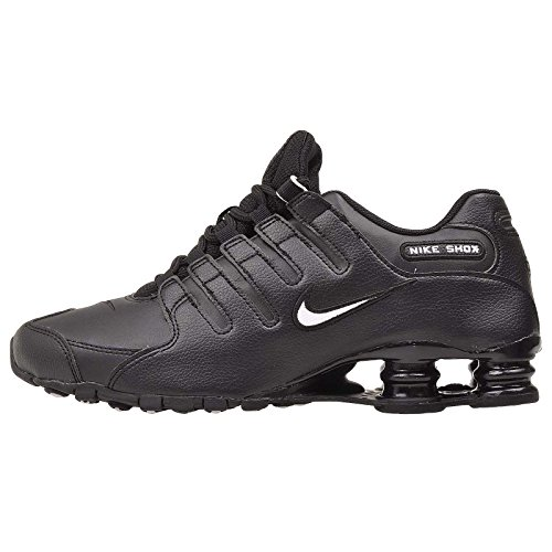 Nike Mens Shox NZ Leather Synthetic Black White Trainers 8.5 US