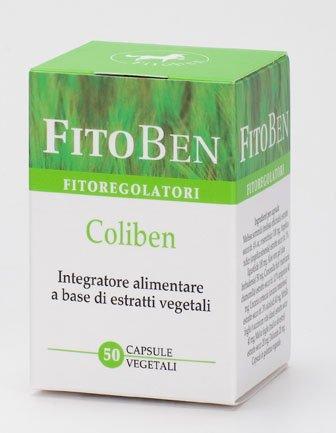 Coliben Integratore alimentare naturale con Melissa, Angelica, Aloe e Camomilla con azione lenitiva del sistema digerente e per la funzione digestiva 50 cps vegetali