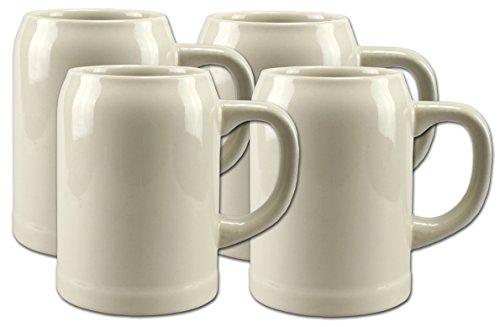 4 Bierkrüge Humpen 0,5L Steinkrug ohne Füllmarke