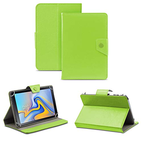 NAUC Protective Cover Case Compatible with Samsung Galaxy Tab A7 10.4 Inch Tablet Case Faux Leather Universal Tablet Case Stand Function Colours: Green