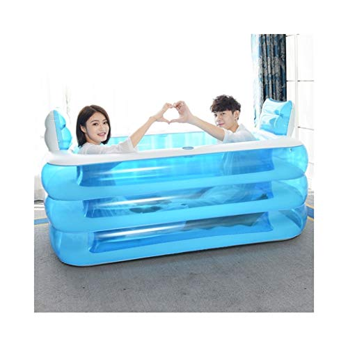 QQB Doppelte aufblasbare Badewanne Erwachsene Badewanne Baby Pool Faltbare Badewanne Portable Indoor Outdoor Dicke Isolierung Faltbare Badewanne Weiches Kissen Aufblasbare Badewanne (Color : 1.5m)