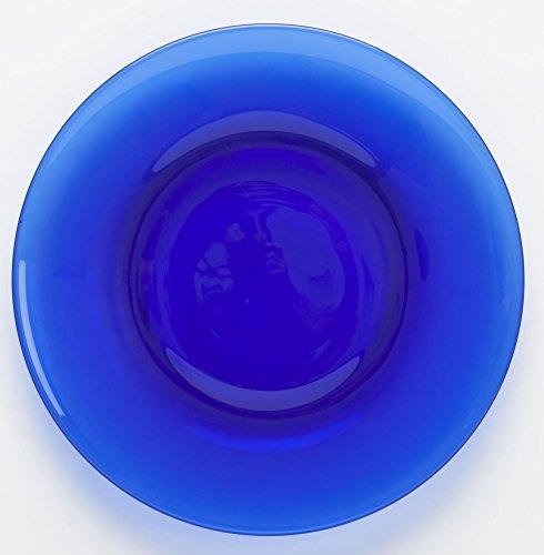 Plain & Simple Pattern - Bread/Salad/Dinner Plate - Mosser Glass (8', Cobalt Blue)