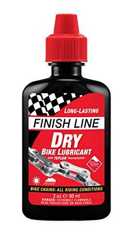 Finish Line DRY Teflon Bicycle Chain Lube 2oz Drip Squeeze Bottle