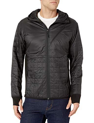 Icebreaker Herren Merino Helix Hooded Jacket, Neuseeland Merino Wool, Herren, Daunenmäntel, Men\'s Helix Long Sleeve Zip Hood, Schwarz/Jet Heather, X-Large