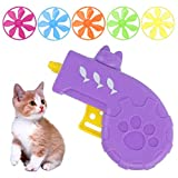 Cat Fetch Toy, Cat Tracks Down Toy Set Flying Disc Toy para Mascotas (Color Aleatorio)