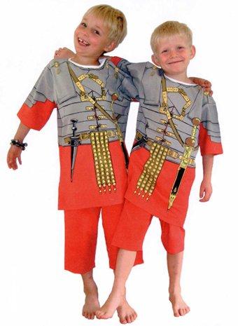 Pijama Legionario Romana y Ropa Casera Divertida (7-8 años)