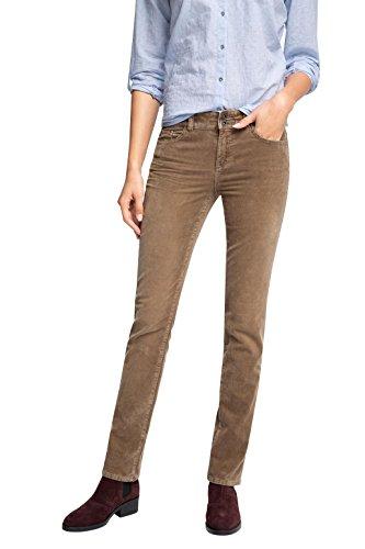 ESPRIT Damen Straight Leg Hose 095EE1B044, Gr. 36/L32 (Herstellergröße: 36), Braun (TAUPE 240)