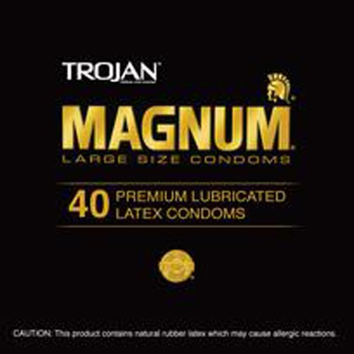 Trojan Magnum Latex Condoms Canister, 40 Count