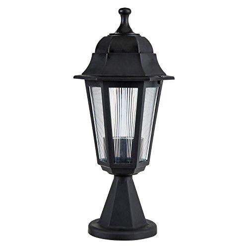 Modelight - Lámpara de pie para exteriores (hexagonal), color negro