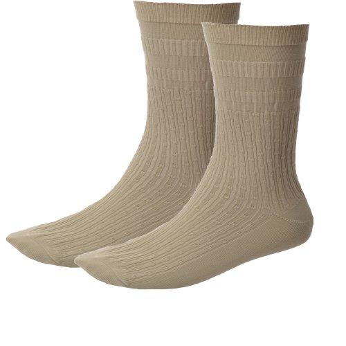 Ashworth, 1 Paio, HJ Hall-Calze Non Elastiche da Donna con Elastico Softop 4-7UK, da Golf Bianco Bianco Avorio 4-7 UK