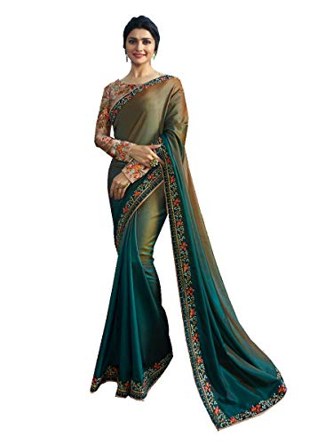 Delisa Fashion Indian Ethnic Bollywood Saree .Party Wear Saree,Pakistani Designer Sari Wedding, Saree for Womens (Multicolored)