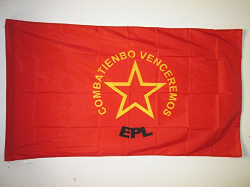 AZ FLAG Drapeau Armée Populaire de libération de Colombie 150x90cm - Drapeau de l'EPL colombien 90 x 150 cm Fourreau pour hampe