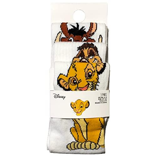 Primark Limited - Calcetines Simba, Timon y Pumba - El Rey Leon Socks - Pack 3 Calcetines para zapatos para Mujer (EU 37-42, UK 4-8)