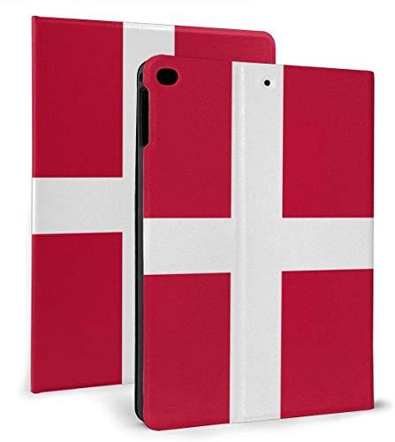 Bandera de Dinamarca Funda Inteligente de Cuero PU Función de Reposo / activación automática para iPad Mini 4/5 7,9 'y iPad Air 1/2 9,7' Funda
