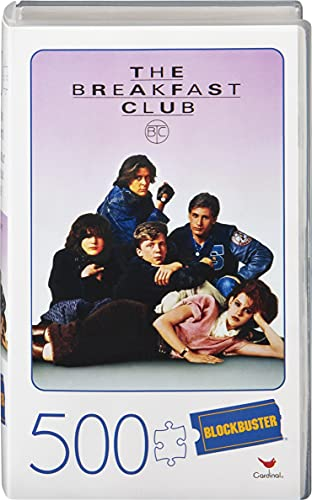 Spin Master Games 6058960 500-Piece Plastic Video Case, 500 Teile Puzzle im Retro Blockbuster VHS Videokoffer The Breakfast Club, Mehrfarbig
