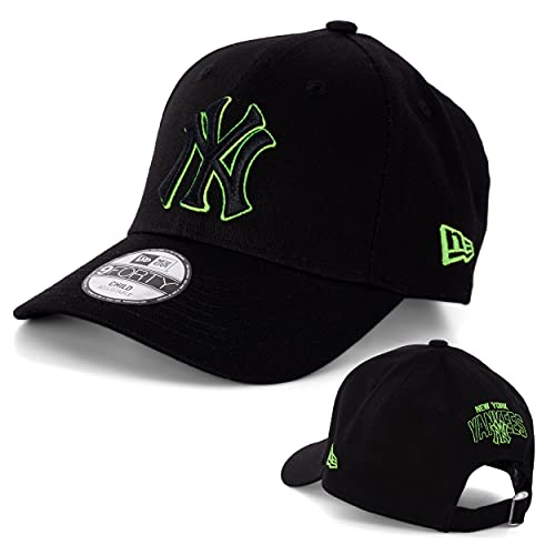 New Era Kids Caps - Kinder Caps - Kinder Kappe - Kinder Mütze - Baseball Caps - MLB - NFL - NBA - Bulls - Yankees - Seahawks - Patriots - Chiefs (New York Yankees Black/Green, 54-56, Numeric_54)