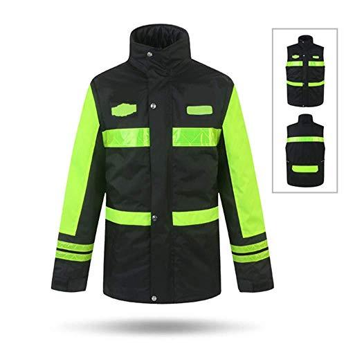Lostgaming reflecterende katoenen mantel High Speed  reflecterende jas voor heren, dikke katoenen kleding reflecterende vesten