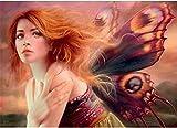 Pintar por Numeros DIY Cuadro al óleo con números Hada, elfo, niña, ángel para Kit de Pintura al óleo Digital para Adultos y niños de Lienzo decoración para el hogar 40x50cm Sin Marco