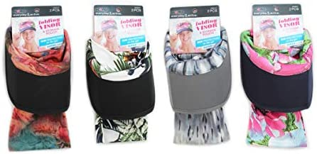 Scunci Everyday Active Folding Visor with Storage Pouch Pack of 4 product image