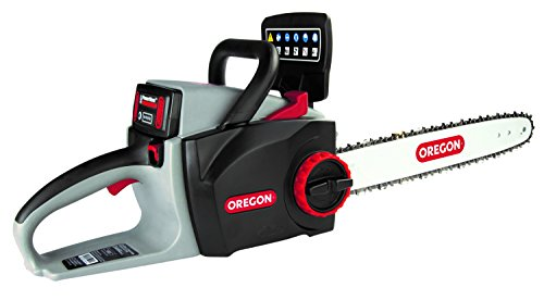 Oregon Cordless 16-inch Self-Sharpening Chainsaw with 6.0 Ah Battery and Rapid Charger