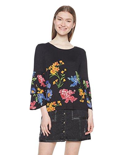 Desigual TS_Flavia T-Shirt, (Negro 2000), Medium Donna