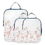 Cubo de embalaje Organizador de maletas de bailarina de ballet para niña Juego de cubos de embalaje de viaje expandibles para equipaje de mano, viaje (juego de 3)