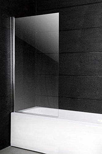 150 x 100 cm Duschwand Badewanne Faltwand Badewannenaufsatz Duschglaswand Glaswand Duschabtrennung Glas 6 mm Sicherheitsglas